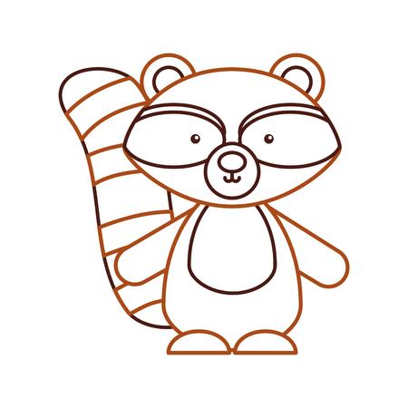 Animal guaxinim cartoon ícone vector ilustração design gráfico Foto de archivo - 80932310
