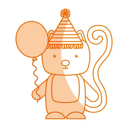 animal cat cartoon icon vector illustration design shadow Illustration