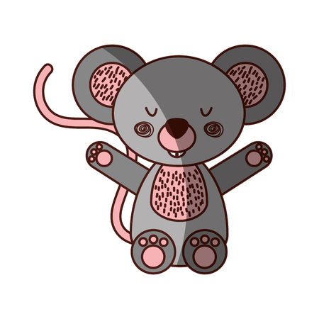 Animal koala cartoon icon vector illustration design shadow
