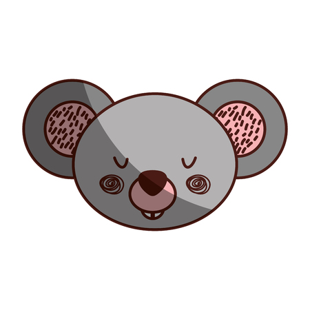 Animal koala cartoon icon vector illustration design shadow