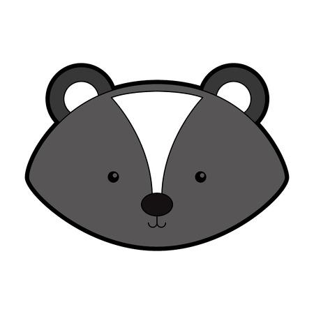 stink: Animal Skunk cartoon icon vector illustration design graphic