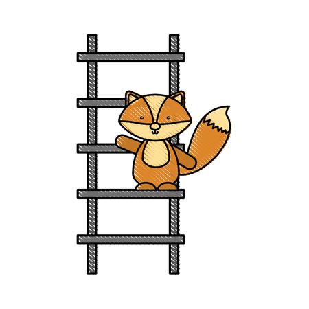 Animal Skunk icono de dibujos animados ilustración vectorial diseño doodle