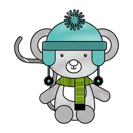 Animal koala cartoon icon vector illustration design doodle Ilustração