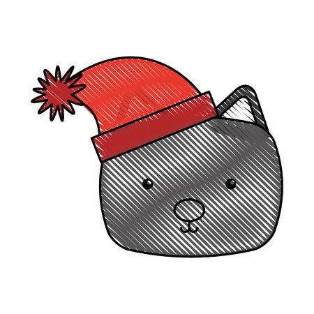 animal cat cartoon icon vector illustration design doodle Stock Vector - 80961502
