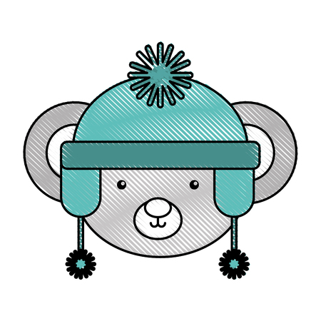 Animal koala cartoon icon vector illustration design doodle Illustration