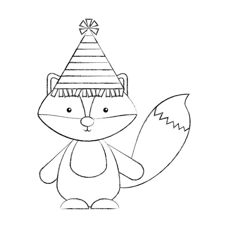 Animal Skunk cartoon icon vector illustration design draw