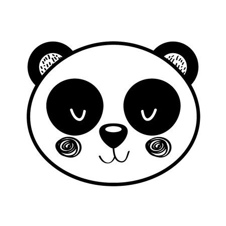 animal panda cartoon icon vector illustration design draw Illustration