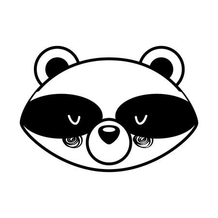 Animal raccoon cartoon icon vector illustration design draw Foto de archivo - 80942136