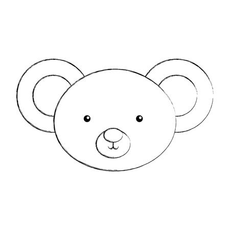 Animal koala cartoon icon vector illustration design draw Illustration
