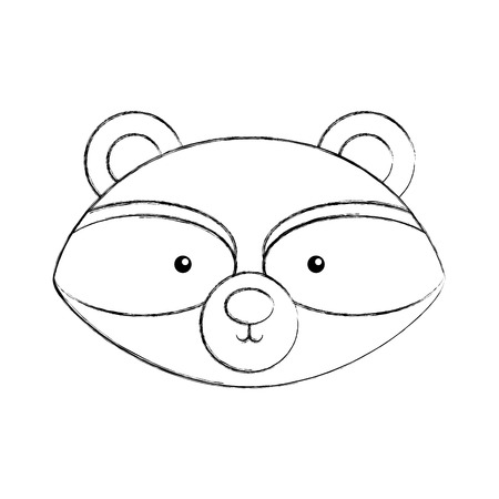 Animal raccoon cartoon icon vector illustration design draw Foto de archivo - 80946987