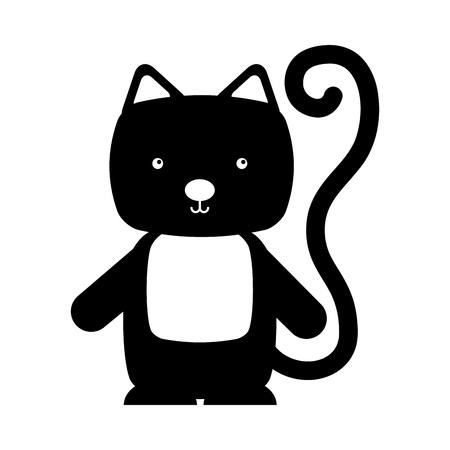 animal cat cartoon icon vector illustration design draw
