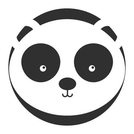 animal panda cartoon icon vector illustration design graphic Illustration