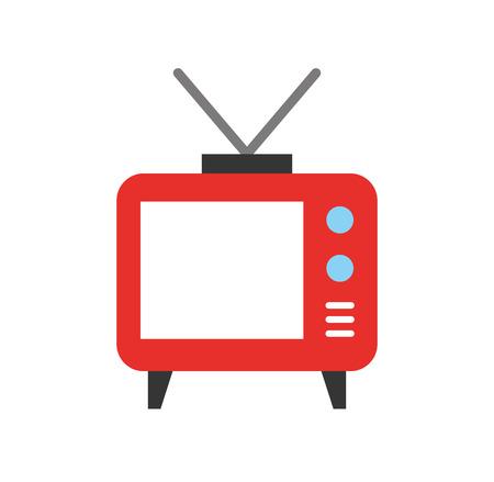 큰 오래 된 텔레비전 아이콘 벡터 일러스트 레이 션 디자인 그래픽 일러스트