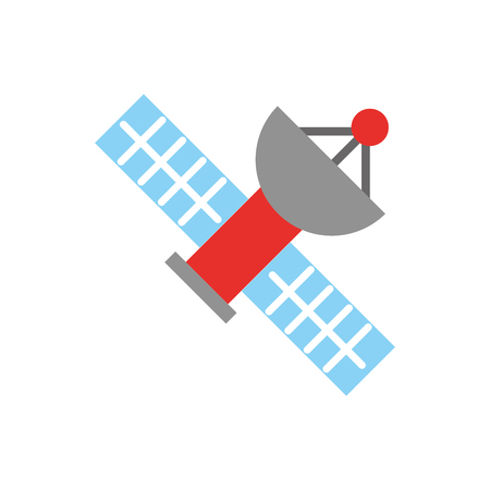Satellite universe antenna icon vector illustration design graphic Illustration