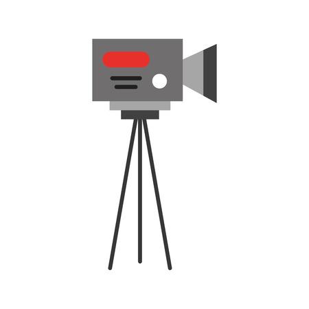 Professional recording camera icon vector illustration design graphic Illustration