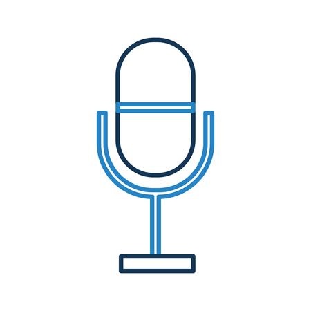 Profesional micrófono transmitir iconos ilustración vectorial diseño gráfico Foto de archivo - 80933009