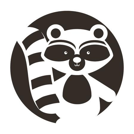 Animal guaxinim cartoon ícone vector ilustração design gráfico Foto de archivo - 80933063