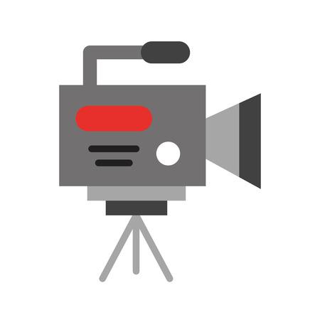 videographer: Professional recording camera icon vector illustration design graphic Illustration