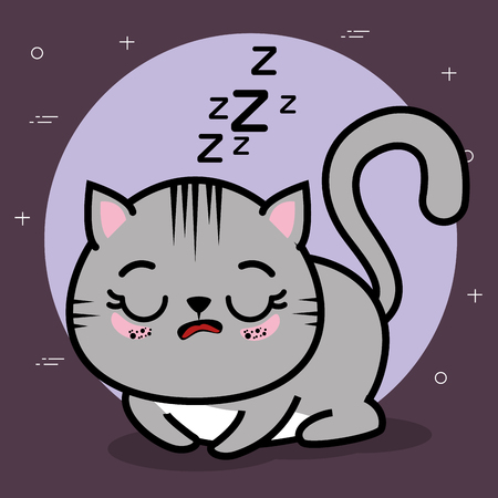 Cute and lovely cat animal cartoon vector illustration graphic design