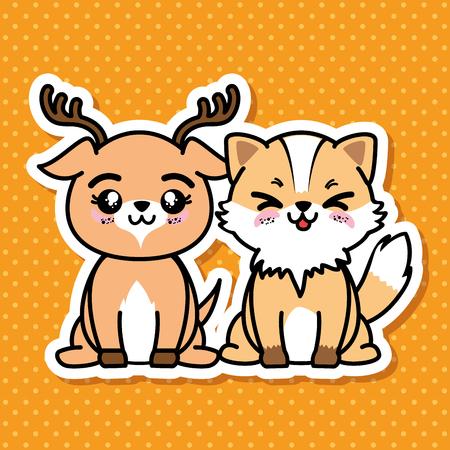 Leuke en mooie dieren cartoon vector illustratie grafisch ontwerp Stockfoto - 80957547