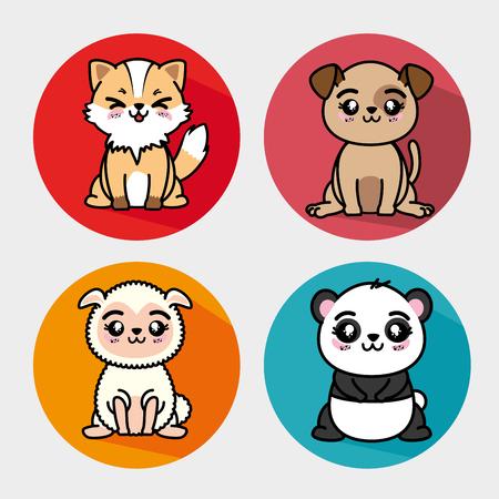 set of cute animals vector illustration graphic design Stock Vector - 80957796