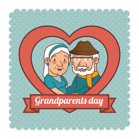 행복한 조부모 날 벡터 일러스트 그래픽 디자인