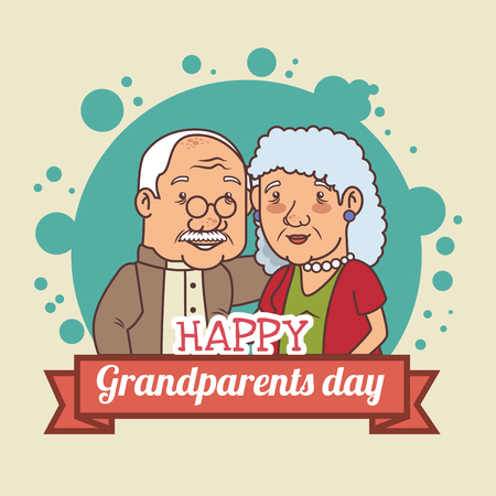 Happy grandparents day vector illustration graphic design Stock Vector - 80962003