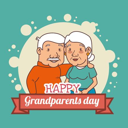 Feliz día de los abuelos ilustración vectorial diseño gráfico Foto de archivo - 80962004