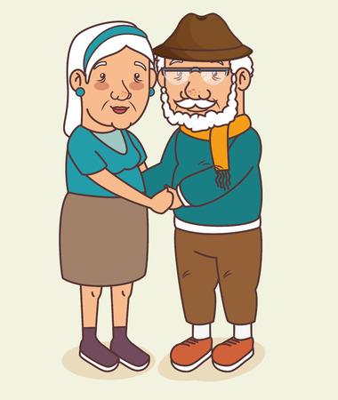 Happy grandparents day vector illustration graphic design Фото со стока - 80962009