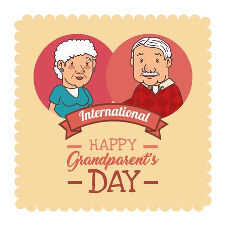 Feliz día de los abuelos ilustración vectorial diseño gráfico Foto de archivo - 80962014