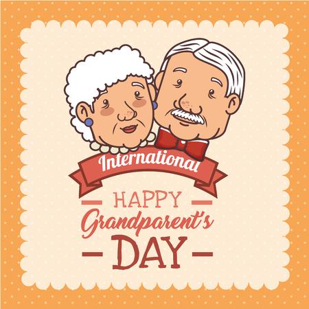 Feliz día de los abuelos ilustración vectorial diseño gráfico Foto de archivo - 80962016