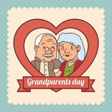 Happy grandparents day vector illustration graphic design