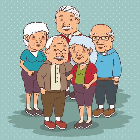 Feliz día de los abuelos ilustración vectorial diseño gráfico Foto de archivo - 80962018