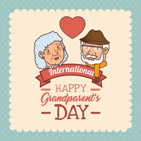 Feliz día de los abuelos ilustración vectorial diseño gráfico Foto de archivo - 80962020