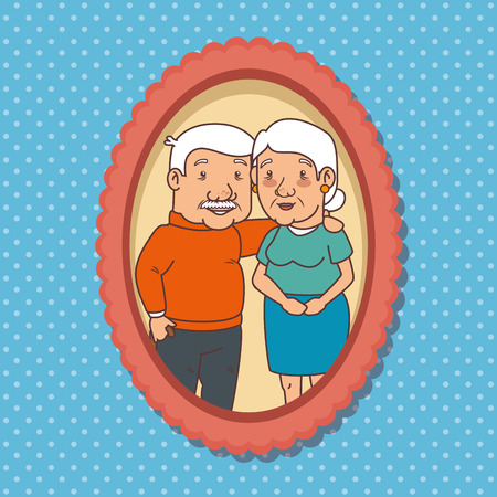 Diseño gráfico del ejemplo feliz del vector del día de los abuelos Foto de archivo - 80962024