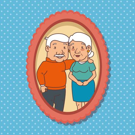 Happy grootouders dag vector illustratie grafisch ontwerp
