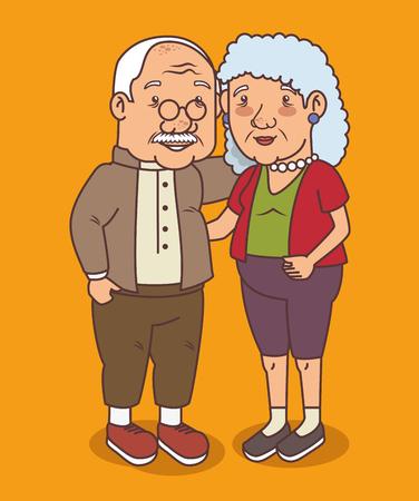 Feliz día de los abuelos ilustración vectorial diseño gráfico Foto de archivo - 80962029