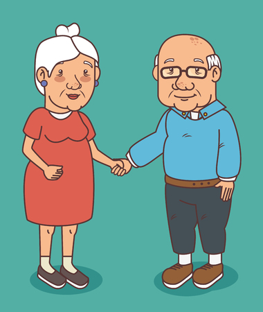 Happy grandparents day vector illustration graphic design Фото со стока - 80962030
