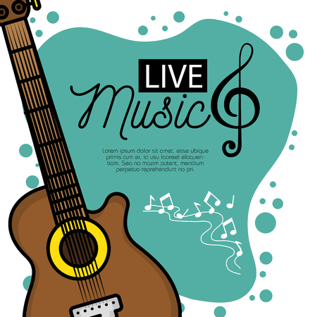 banner for the concert live music vector illustration graphic design
