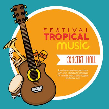ポスター祭り熱帯音楽コンサート ホール ベクトル イラスト グラフィック デザインで 写真素材 - 80962121