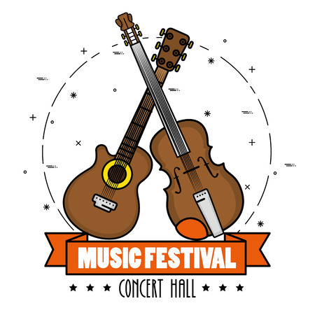 poster of a music festival live vector illustration graphic design