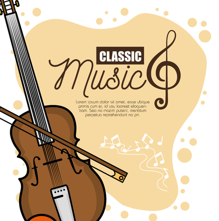 poster of a festival classic music concert hall vector illustration graphic design