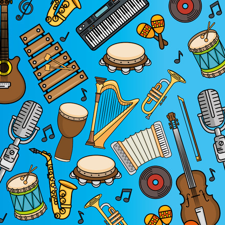 cellos: set of musical instruments icon vector illustration graphic design