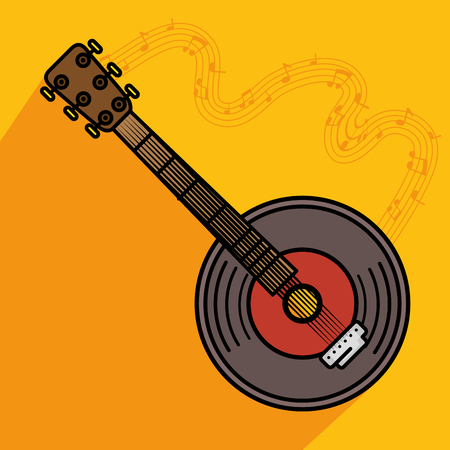 banjo musical instrument icon vector illustration graphic design