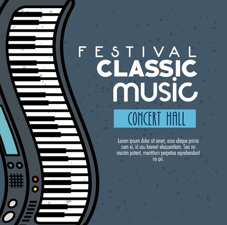 poster van een festival klassieke muziek concertzaal vector illustratie grafisch ontwerp