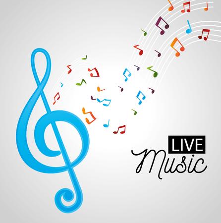 banner for the concert live music vector illustration graphic design