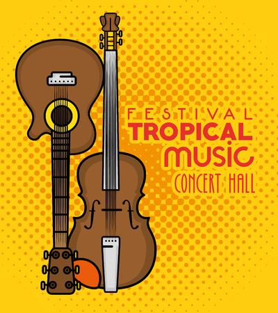 ポスター祭り熱帯音楽コンサート ホール ベクトル イラスト グラフィック デザインで 写真素材 - 80962576