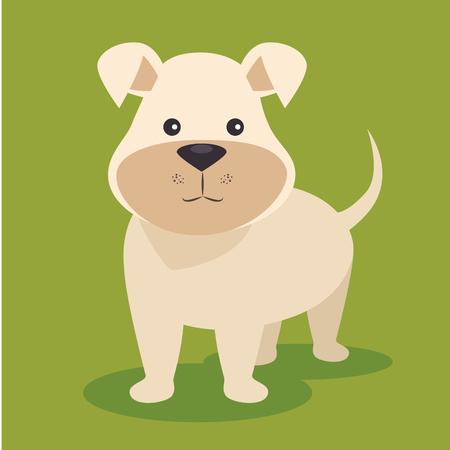 cute puppy dog cartoon vector illustration graphic design