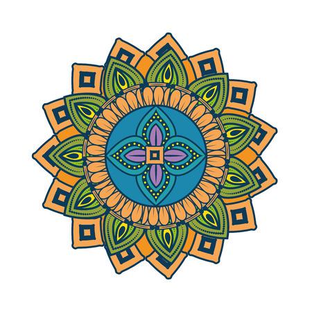 Mandala Vintage decorative elements Oriental pattern vector illustration graphic design