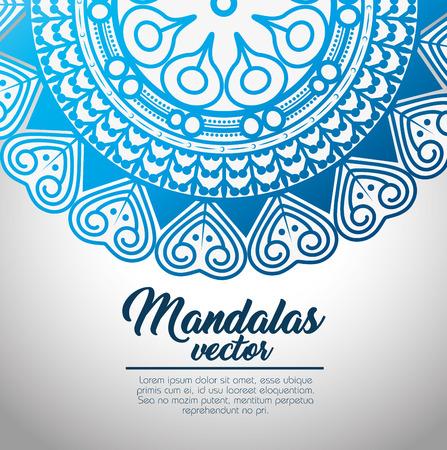 mandala vintage sjabloon vector illustratie grafisch ontwerp